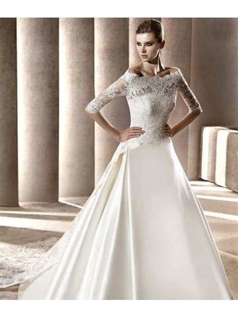 a line lace wedding dresses uk   Di Candia Fashion
