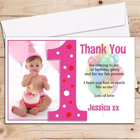 personalised girls st  birthday   photo cards  ebay