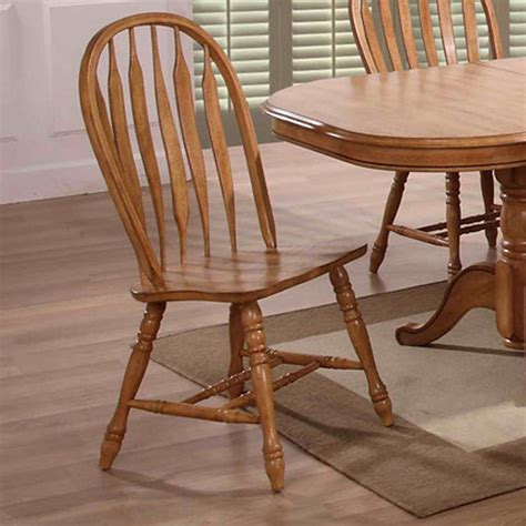 eci furniture dining large bow  solid oak side