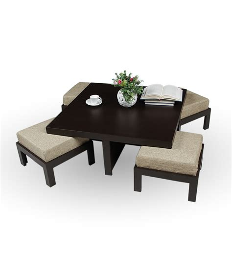 centre table with four stools trendy coffee table with four stools jute by purple