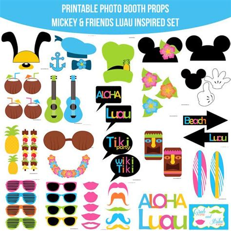 ukuleles from mickey friends luau inspired printable pinterest the world s catalog of ideas