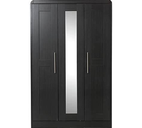 Black Wardrobe Argos - buy of house elford 3 door mirror wardrobe black