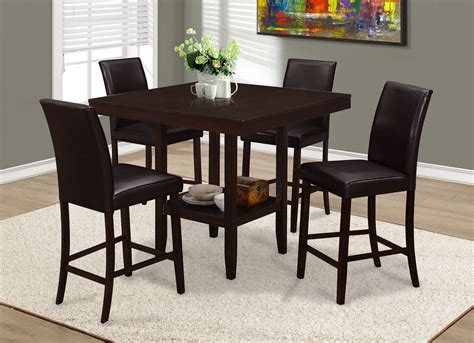 counter height dining set with leather chairs brown leather counter height dining chair set of 2 1901