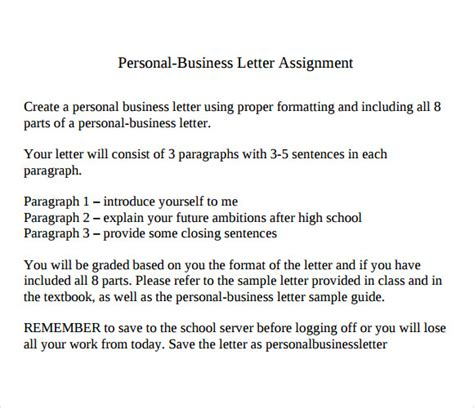 layout of a personal letter sle personal business letter 9 documents in pdf word