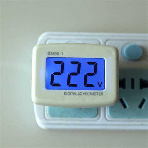 Small Single Household 220 V Lcd 110v 220v Ac Digital Voltmeter Household Factory