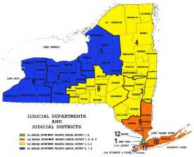 New York Map Districts by Appellate 4th