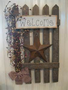 diy primitive home decor wall fence primitives pinterest