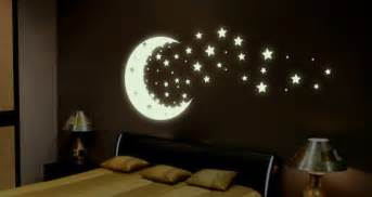 Glow In The Dark Wall Stickers Stars Moonshine Glow In The Dark Wall Decals Stars Dezign With A Z