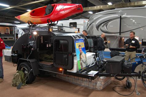 Gidget Teardrop Trailer by Doomsday Preppers Teardrop Trailer Debuts At Rvia Trade