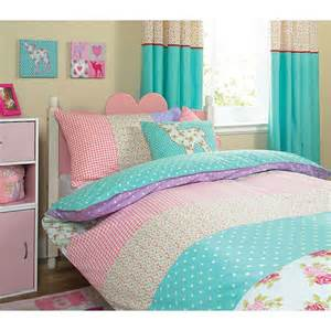 Single Bedspreads And Quilts Whimsical Patchwork Duvet Single Bedding Asda Direct