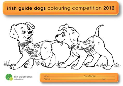 coloring pictures of guide dogs colouring competition fundraising guide dogs