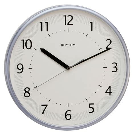 silent wall clocks traditional rhythm wall clock silent no ticking metallic