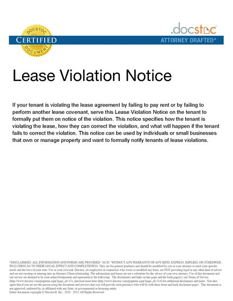 Lease Notice For Noise notice pictures to pin on pinsdaddy
