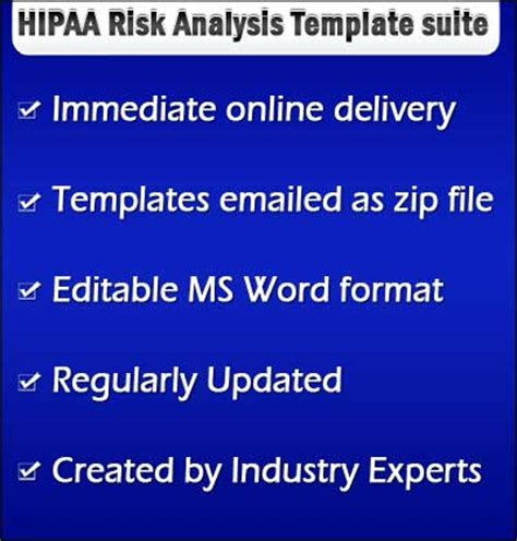Hipaa Security Risk Analysis Template Hipaa Risk Assessment Template