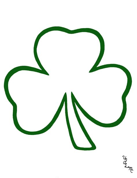 Shamrock Outline Clipart by Shamrock Free Clip Free Clip On Clipart Library