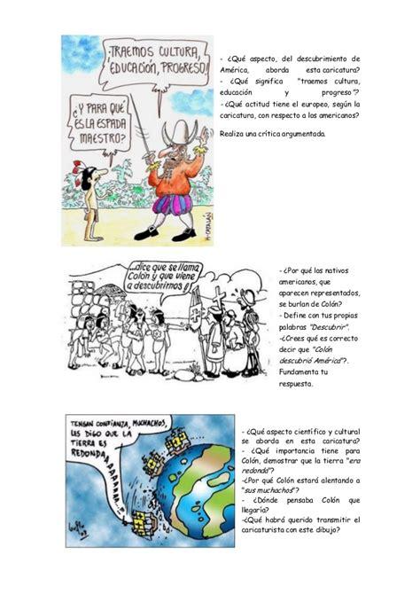 testo america montaje cr 237 tica caricaturas descubrimiento de am 233 rica
