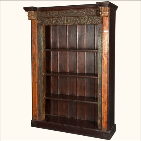 4 shelf open bookcase french gothic reclaimed wood 4 shelf open display bookcase