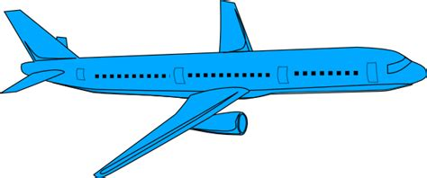 blue clipart aeroplane pencil and in color blue clipart