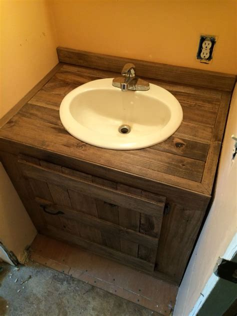 what are bathroom sinks made of another bathroom vanity made from pallet wood things i