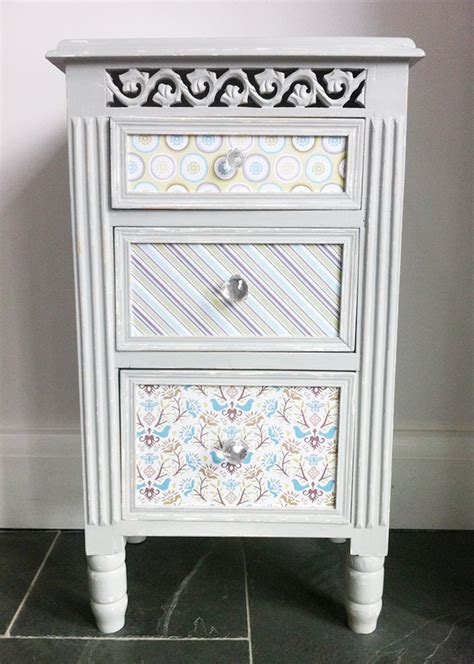 Decoupage Bedside Table - for the creative home decoupage
