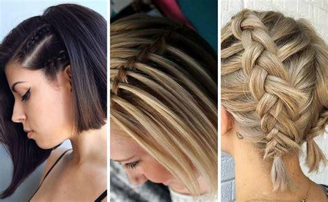 trenzas en pelo corto peinados con trenzas en cabello corto 10 ideas geniales