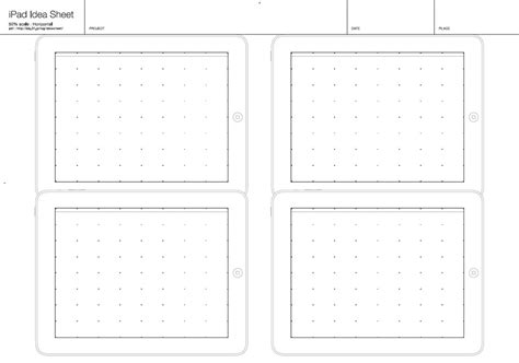 20 Free Printable Sketching And Wireframing Templates Template Size