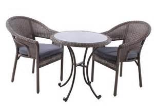 leisuregrow torino 2 seat bistro set rattan garden