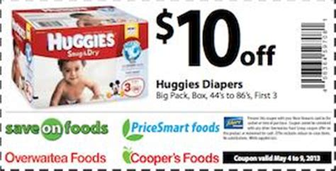 printable huggies coupons canada save on foods coupon for huggies diapers 10 off