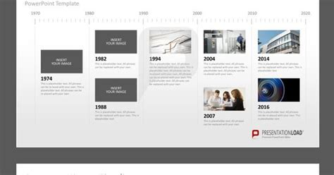 powerpoint design about history company history milestones in a timeline powerpoint