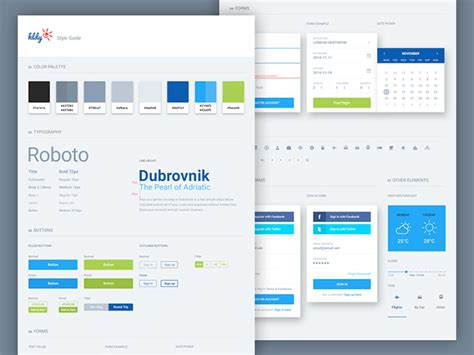 design guidelines inspiration 40 great exles of ui style guides web graphic