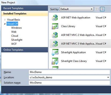 tutorial asp net project asp net mvc web application