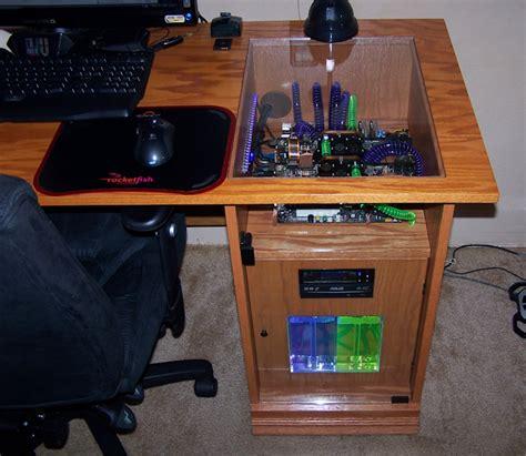 custom gaming pc in table secretly geeky pinterest