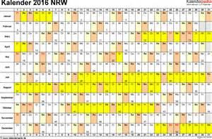 Kalender 2018 Nrw Xls Kalender 2016 Nrw Ferien Feiertage Excel Vorlagen