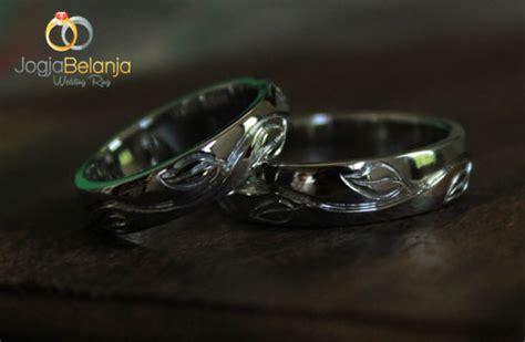 Cincin Melingkar Monel Lapis Emas cincin kawin motif ranting daun perak lapis emas cincin