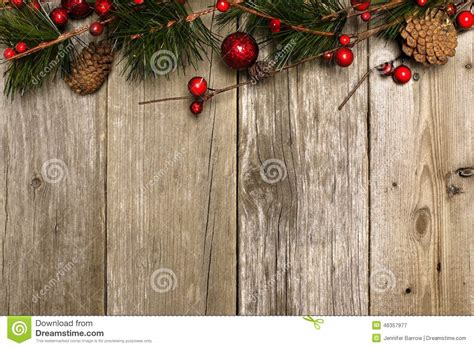 christmas background  branches  wood stock photo