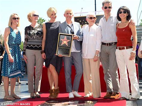 Degeneres Gets Glammed Up by Degeneres Gets A On The Walk Of Fame