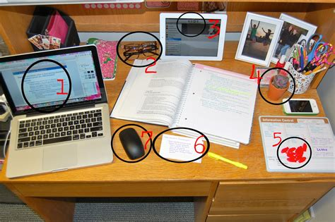 Organize Please Desk While Studying Carly The Prepster College Desk Organization