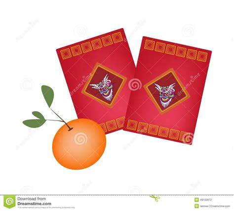 new year celebration envelopes envelopes and orange for new year stock vector