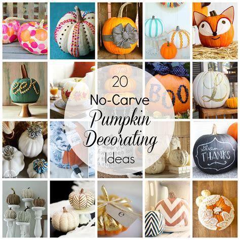 No Carve Pumpkin Decorating Designs by No Carve Pumpkin Decorating Ideas
