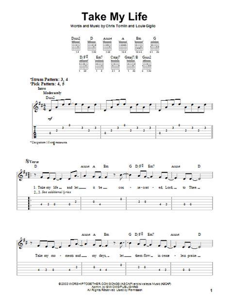 Take My Life Guitar Chords