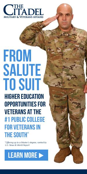 The Citadel Mba Curriculum by 3 Reasons The Citadel Is A Choice For Veterans