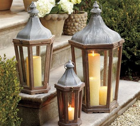 Outdoor Candles Lanterns And Lighting Park Hill Lantern Traditional Outdoor Wall Lights And Sconces By Pottery Barn