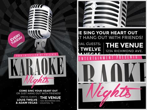 free templates for karaoke flyers karaoke nights flyer template 2 flyerheroes