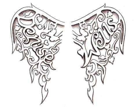 angel wings tattoo design by denise a wells these
