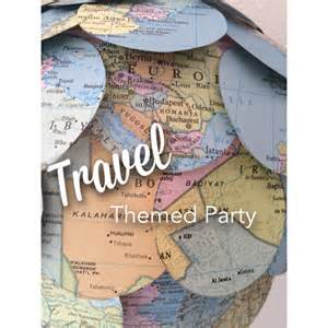 Travel Theme let s go travel themed party the petite stag