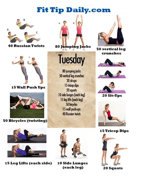 exercises dissected exercise routines tuesday
