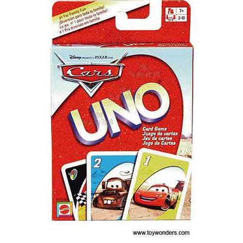 Disney Uno Mattel mattel disney pixar cars uno card h7340 9p64