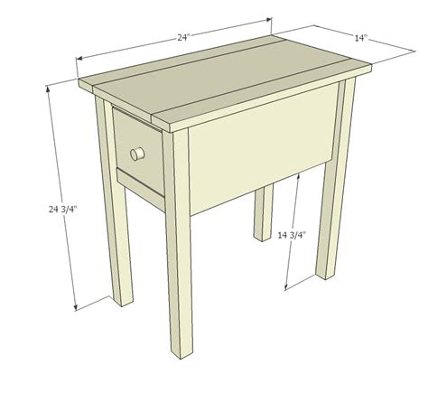 End Table Dimensions Pdf Woodworking