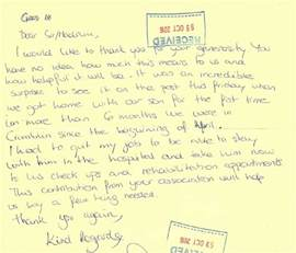 family thank you letter clionas foundation