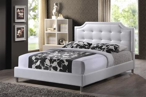White King Size Upholstered Headboard Baxton Studio Bbt6376 White King Carlotta White Modern Bed